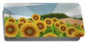 Land Of Sunflowers. Portable Battery Charger
