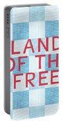 Land Of The Free Portable Battery Charger by Linda Woods