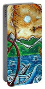 Land Of The Free Original Madart Painting Portable Battery Charger