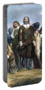 Landing Of Pilgrims, 1620 Portable Battery Charger
