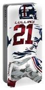 Landon Collins New York Giants Pixel Art 1 Portable Battery Charger