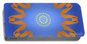 Landscape Abstract Blue, Orange And Yellow Star Portable Battery Charger