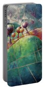 Landscape And Trees In Purple Portable Battery Charger