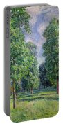 Landscape At Sevres Portable Battery Charger by Alfred Sisley