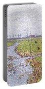 Landscape At Sluis Portable Battery Charger