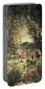 Landscape Portable Battery Charger by Charles Francois Daubigny