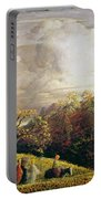 Landscape Figures And Cattle Portable Battery Charger