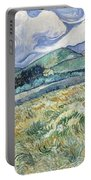 Landscape From Saint Remy At Wheat Fields  Van Gogh Series   By Vincent Van Gogh Portable Battery Charger