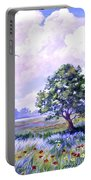 Landscape In Blues Portable Battery Charger