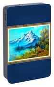 Landscape Scene Near Virginiahurst L A With Alt. Decorative Ornate Printed Frame. Portable Battery Charger
