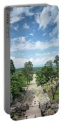 Landscape View From Preah Vihear Mountain In North Cambodia Portable Battery Charger