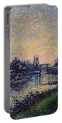 Landscape With A Lock 1885 Portable Battery Charger