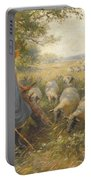 Landscape With A Shepherdess Portable Battery Charger