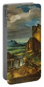 Landscape With A Tomb  Portable Battery Charger by Theodore Gericault
