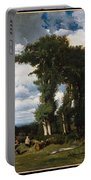Landscape With Cattle At Limousin Portable Battery Charger