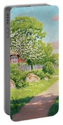 Landscape With Fruit Trees Portable Battery Charger