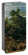Landscape With Milkmaids And Cows Portable Battery Charger