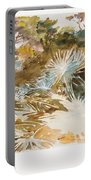 Landscape With Palmettos Portable Battery Charger