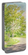 Landscape With Pickling Hens Portable Battery Charger