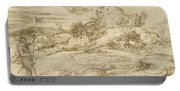 Landscape With St. Theodore Overcoming The Dragon Portable Battery Charger