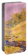 Landscape With Stream Portable Battery Charger