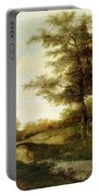 Landscape With Village Path And Men Portable Battery Charger