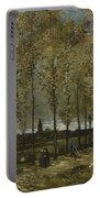 Lane With Poplars Near Nuenen Portable Battery Charger