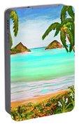 Lanikai Beach Oahu Hawaii #358 Portable Battery Charger