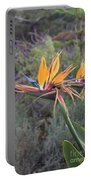 Large Bird Of Paradise Flower In Full Bloom  Portable Battery Charger