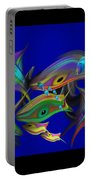 Large Blue Edo Screen  Portable Battery Charger