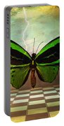 Large Green Wings Portable Battery Charger