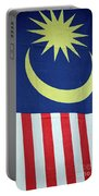Large Malaysia Flag On Doorway Georgetown Penang Malaysia Portable Battery Charger