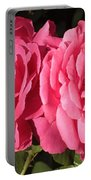 Large Pink Roses Portable Battery Charger