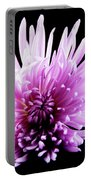 Large Purple Chrysanthemum-1 Portable Battery Charger