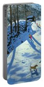 Large Snowball Zermatt Portable Battery Charger by Andrew Macara
