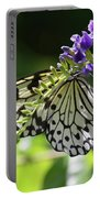 Large Tree Nymph Polinating Dainty Purple Flowers Portable Battery Charger