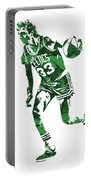 Larry Bird Boston Celtics Pixel Art 10 Portable Battery Charger