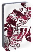 Larry Fitzgerald Arizona Cardinals Pixel Art 1 Portable Battery Charger