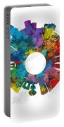 Las Vegas Small World Cityscape Skyline Abstract Portable Battery Charger
