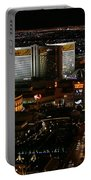 Las Vegas Strip Portable Battery Charger by Kristin Elmquist