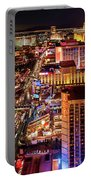 Las Vegas Strip North View Night 2 To 1 Ratio Portable Battery Charger