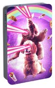 Laser Eyes Space Cat Riding Sloth, Dog - Rainbow Portable Battery Charger