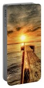 Last Call At Sunset Dock Portable Battery Charger