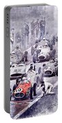 Last Control Maserati 250 F France Gp 1954 Portable Battery Charger