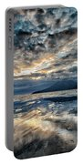 Last Light Isle Of Rum From Isle Of Eigg Portable Battery Charger