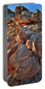 Last Sunlight On Jagged Sandstone In Valley Of Fire Portable Battery Charger