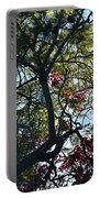 Late Afternoon Tree Silhouette With Bougainvileas II Portable Battery Charger