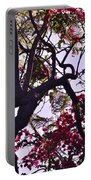 Late Afternoon Tree Silhouette With Bougainvilleas IIi Portable Battery Charger