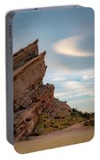 Late On Vasquez Rocks By Mike-hope Portable Battery Charger