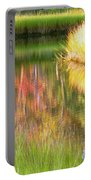 Stillness Of Late Summer Marsh  Portable Battery Charger